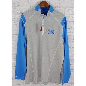UNC Antigua Brand 1/4 Zip Sweater,  NWT Size XL